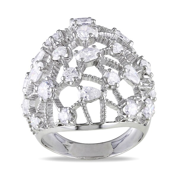 Shira Design 14k White Gold 2 3/4ct TDW Diamond Cocktail Ring (G-H, SI1-SI2)