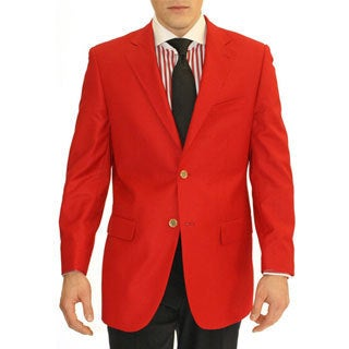 Ferecci Men's Red 2-button Blazer
