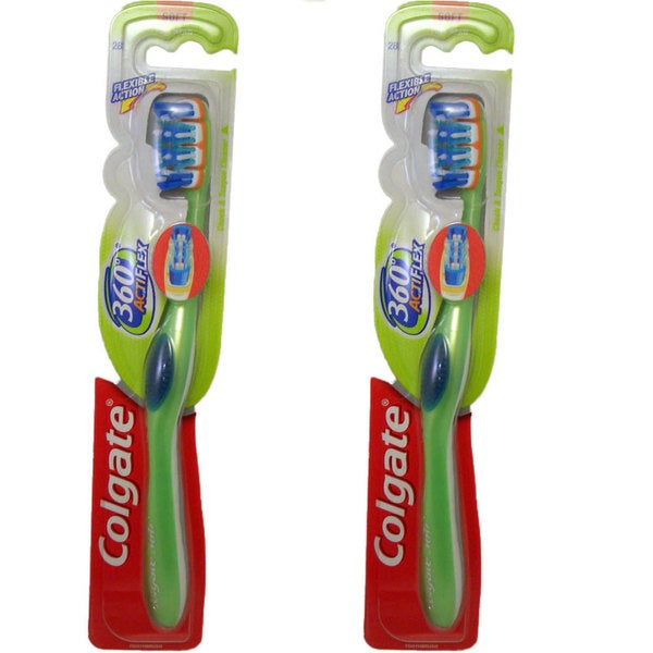 Colgate Acti Flex 360 Soft Full Head Toothbrush #28 (Pack of 2)
