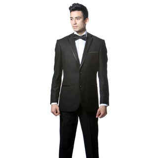 Ferrecci's Men's Slim Fit Black 2-button Tuxedo Suit