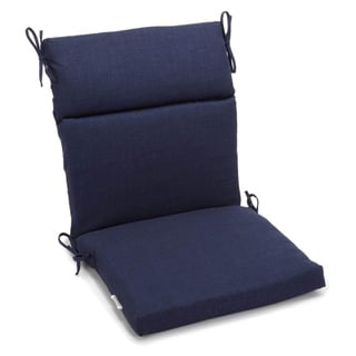 Blazing Needles Solid 3-section Chair Cushion