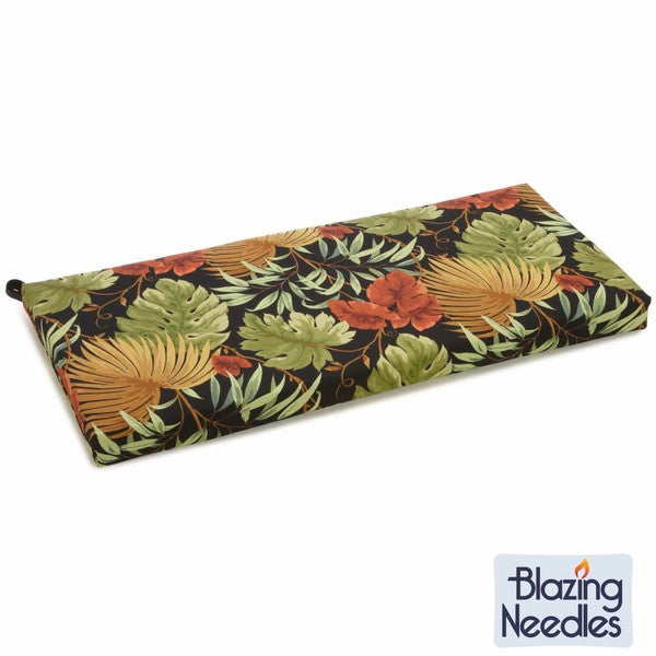 Blazing Needles Tropical/ Stripe Outdoor Bench Cushion
