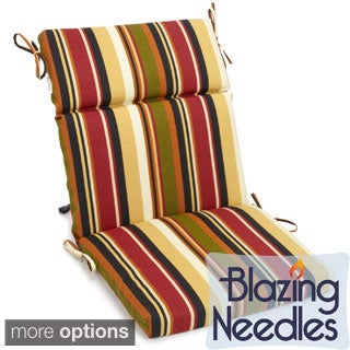 Blazing Needles Three-Section Outdoor Chair Cushion