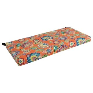 Blazing Needles Floral Outdoor Bench Cushion