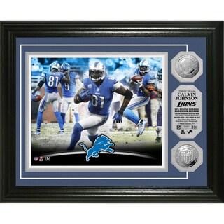 Detroit Lions Calvin Johnson 'NFL Single Season Receiving Record' Silver Coin Photomint