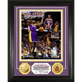Los Angeles Lakers Kobe Bryant 30,000 Career Points Gold Coin Photo Mint