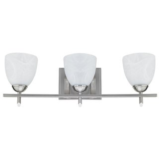 Chloe Brushed Nickel 3-light Bath Light