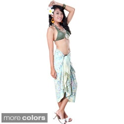 Premium Heavyweight Cream Floral Sarong (Indonesia)