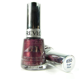 Revlon Top Speed #650 Sugar Plum Nail Enamel (Pack of 2)