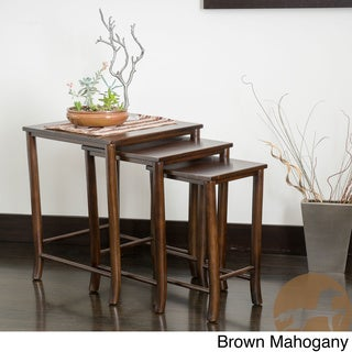 Christopher Knight Home Walt Acacia Wood Nesting Tables (Set of 3)
