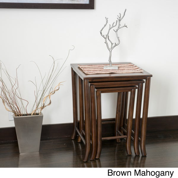 Walt Acacia Wood Nesting Tables (Set of 3)