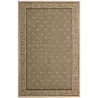 Cosmopolitan Chestnut Star Print Rug (5'3 x 8'3)
