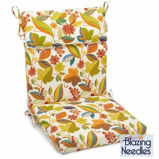 Blazing Needles Outdoor Three-Section Seat/Back Chair Cushion (45 x 22)