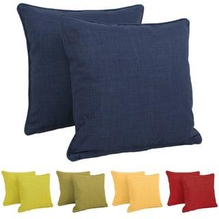 Blazing Needles Earthtone 18-inch Outdoor Throw Pillows (Set of 2)