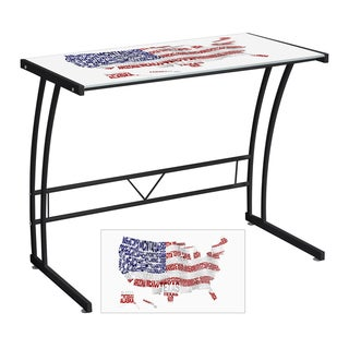 USA Printed Computer Desk/ Workstation