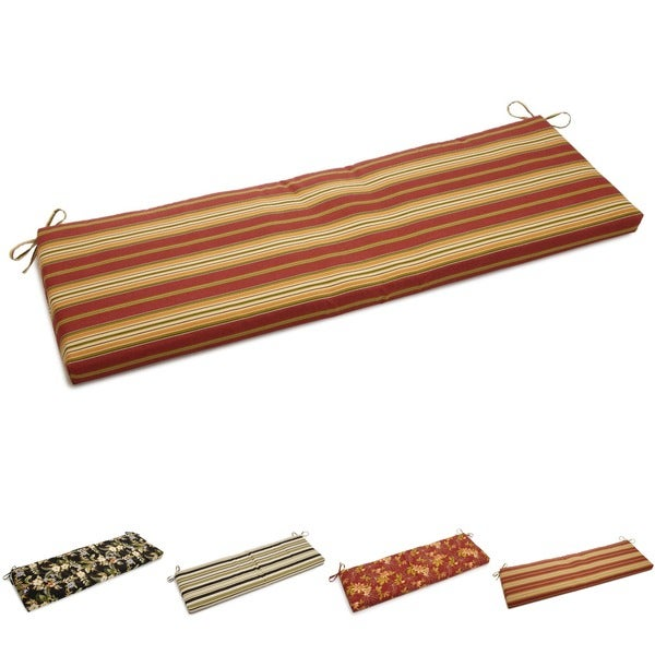 Blazing Needles Outdoor Spun Poly 3-Seater Bench Cushion (60 x 19)