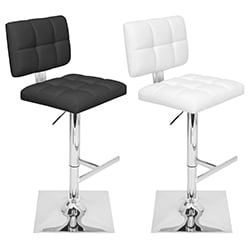 Glamour Adjustable Contemporary Barstool