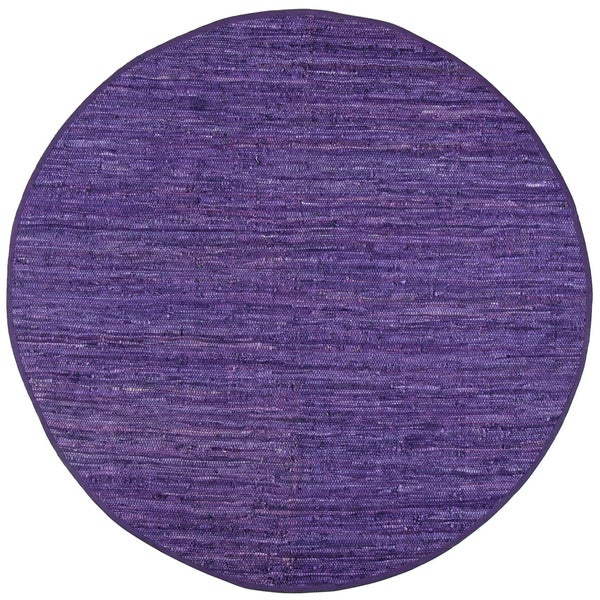 Hand Woven Matador Purple Leather (8' Round)