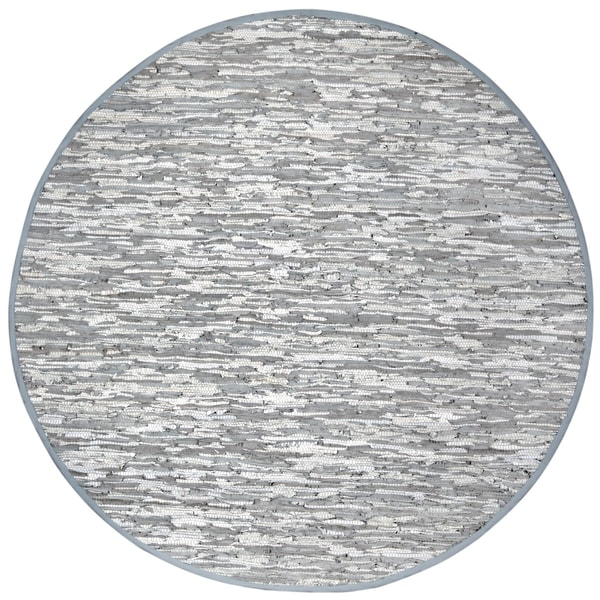Hand Woven Matador White Leather (8' Round)