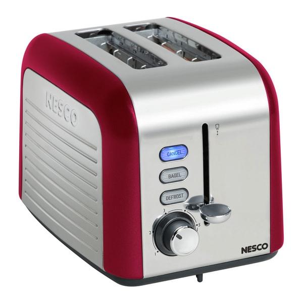 Nesco T1000-12 Red 1000-watt 2-slice Toaster