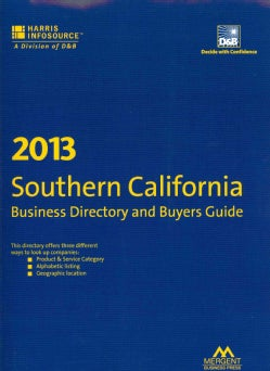 Harris Southern California Business Directory and Buyers Guide 2013 (Paperback)