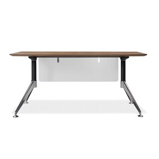 J & K Walnut Contemporary 63-inch Executive Desk