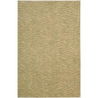 Cosmopolitan Beige/Green Tiger Print Rug (5'3 x 8'3)