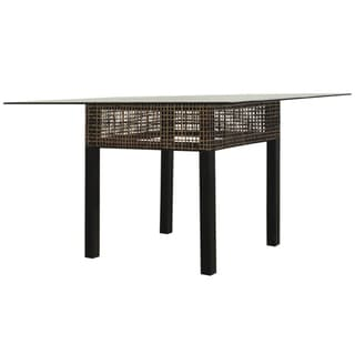 Emperor Dining Table With 48 Inch Square Glass Overstock Shopping