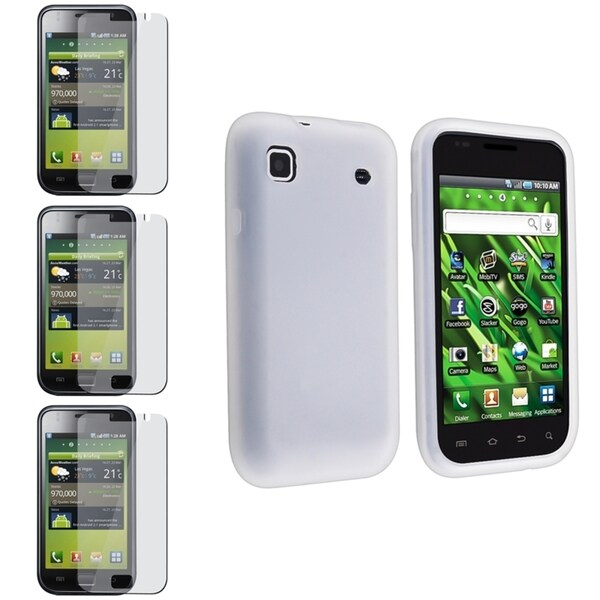 BasAcc White Case/ Screen Protector for Samsung Galaxy S i9000