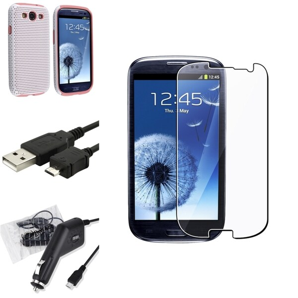 BasAcc Case/ Screen Protector/ Charger for Samsung© Galaxy S III i9300