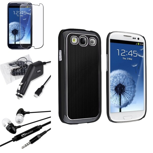 INSTEN Case Cover/ Screen Protector/ Headset for Samsung Galaxy S3