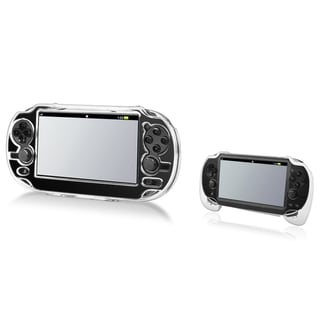INSTEN Clear Crystal Case Cover/ White Hand Grip for Sony Playstation Vita
