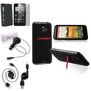 BasAcc Case/ Privacy Screen Filter/ Charger/ Cable for HTC EVO 4G LTE