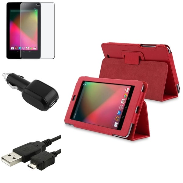 BasAcc Case/ Screen Protector/ Charger/ Cable for Google Nexus 7