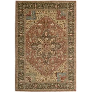 Living Treasures Rust Rug (5' 6 x 8' 3)