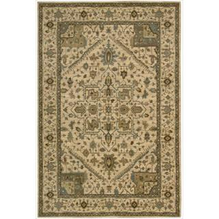 Living Treasures Beige Rug (5' 6 x 8' 3)