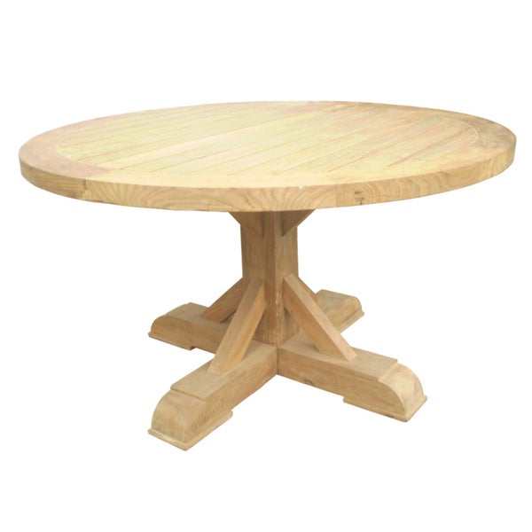 Xena Outdoor Reclaimed Teak Round Dining Table 15067867 Overstock