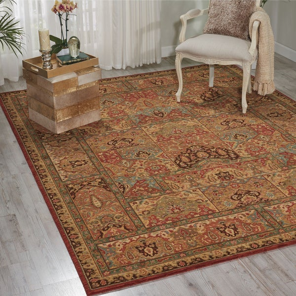 Living Treasures Multicolored Rug (9' 9 x 13' 9)