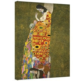 Gustav Klimt 'Hopeful' Gallery Wrapped Canvas