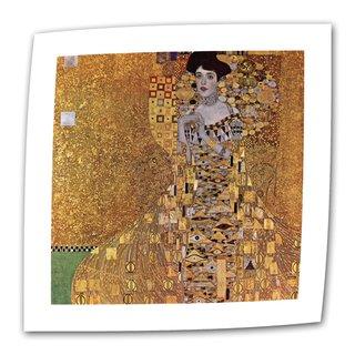 Gustav Klimt 'Portrait of Bloch Bauer' Flat Canvas