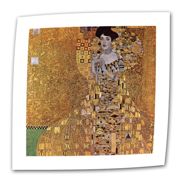 Gustav Klimt 'Portrait of Bloch Bauer' Flat Canvas
