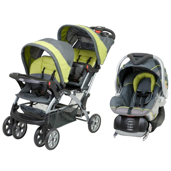 Baby Trend 'Sit N Stand' Double Stroller Travel System in Carbon
