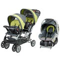 Baby Trend &#39;Sit N Stand&#39; Double Stroller Travel System in Carbon