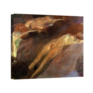 Gustav Klimt 'Moving Water' Gallery Wrapped Canvas