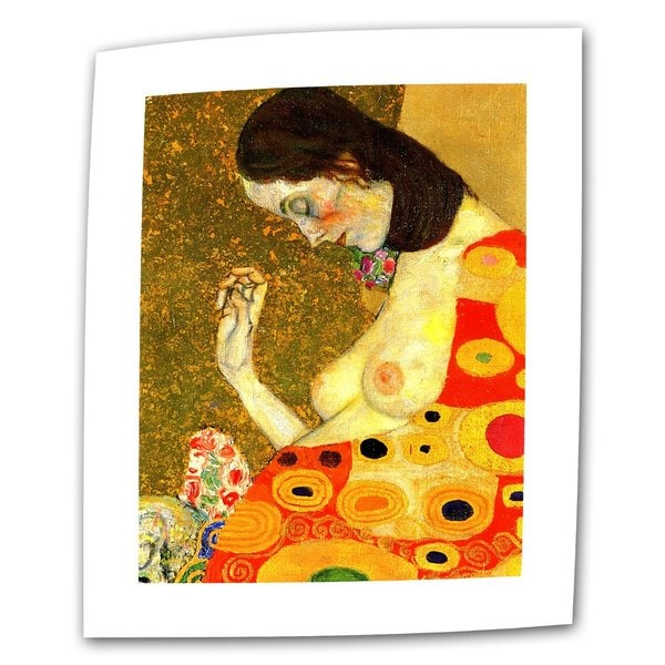 Gustav Klimt 'Hope II' Flat Canvas