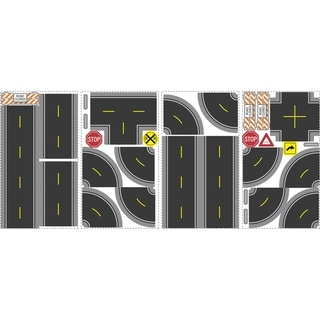 Build-A-Road Peel & Stick Wall Decal Art