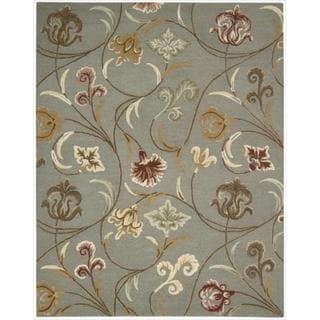 Hand-tufted In Bloom Smoke Wool Rug (8' x 11')
