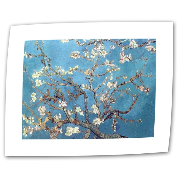 Vincent van Gogh 'Almond Blossom' Flat Canvas