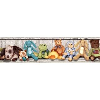 Cuddle Buddies Border Peel & Stick Wall Decal Art