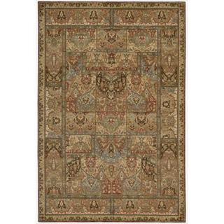 Living Treasures Multicolor Wool Rug (5'6 x 8'3)